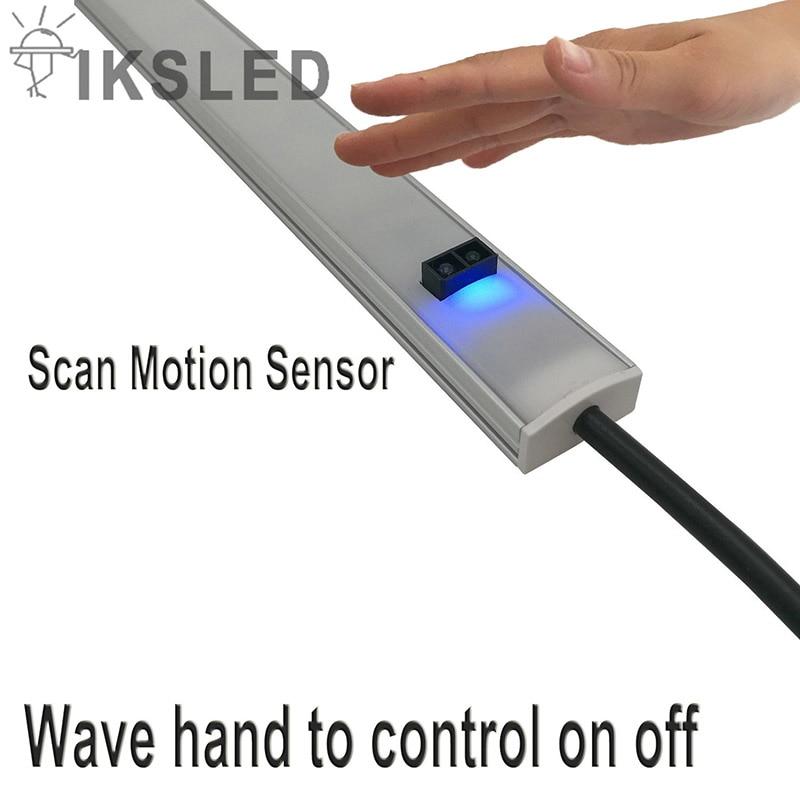 Human Infrared Sensor Light 5630 5730 Hard Rigid LED Strip Bar Light Kitchen Light Cabinet Rigid Strip Wave Hand Control On Off