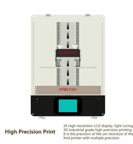 New SLA/DLP/LCD 3D Printer DIY With Large Printing Size 216*135*200MM high  Precision Impresora 405nm UV Resin 3d Printer