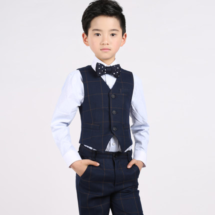 (Chaleco + camisa + Pantalones + pajarita) ropa de niño chico 4 unids  celosía 1f83f0d41584