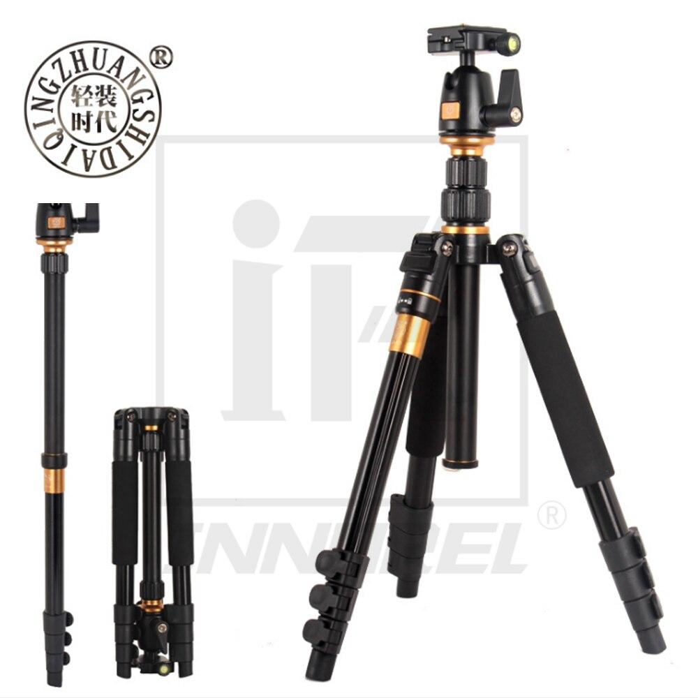 Beike QZSD Q555 Professionelle Aluminium-legierung Stativ Einbeinstativ Kugelkopf Q. R. Platte Für DSLR Kamera Licht Kompakte tragbare Ständer