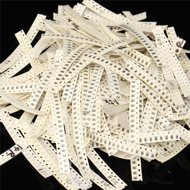 Hot New 3400 pcs Conjunto 170Valuesx20Pcs 1206 SMD Resistor Assorted Kit Resistores (0R ~ 10MR) 1/W RoHS 2x1 4mm Nova Unidade Elétrica