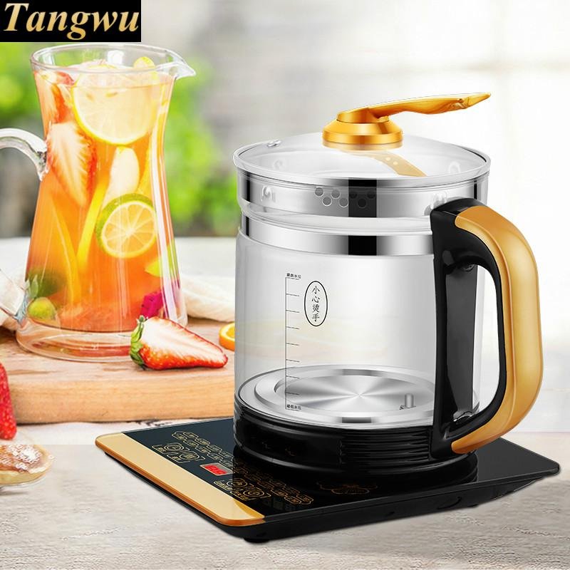 Full automatic and thickened glass multi-purpose multi-function electric heating kettle black tea brewing Overheat Protection bear 220v electric kettle multifunctional health preserving pot decocting of tea glass thickened kettles