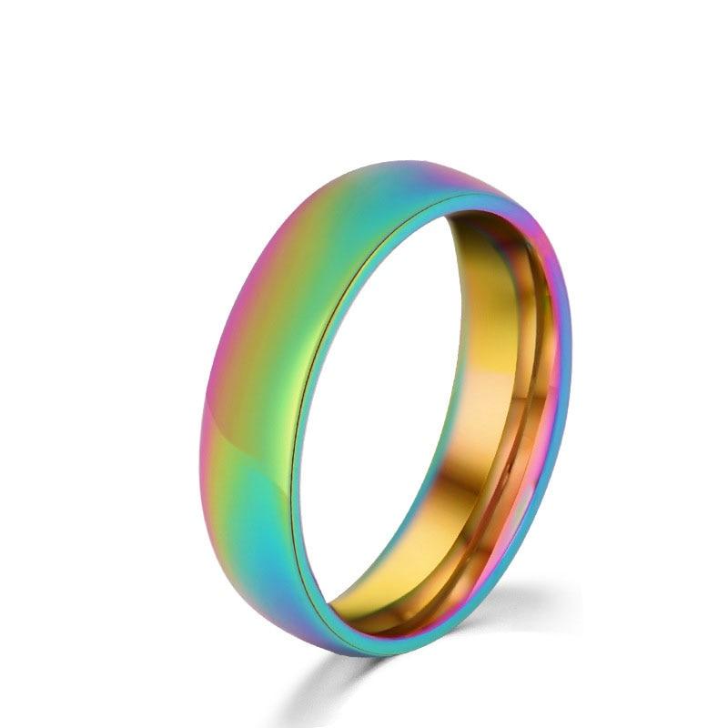 Trendy LGBT Pride Rainbow Rings Couple Rings Lover's Jewelry Lesbian Gay Pride Rainbow Rings Love Wins Obama