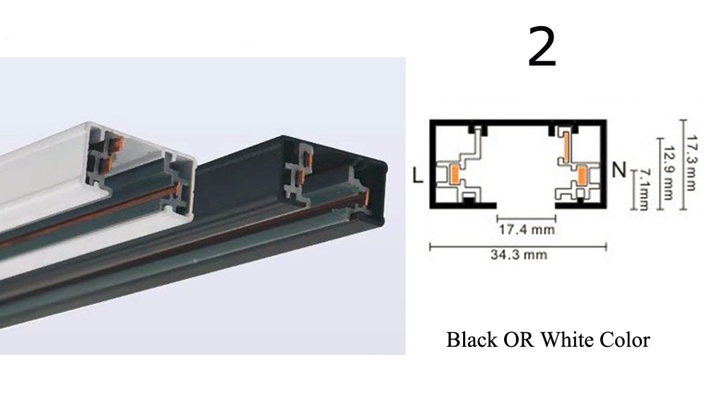 aliexpress com buy led track rail light rail 1 meter 2 3 4 wire rh aliexpress com