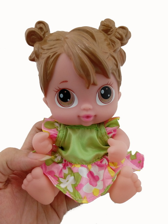 7inches Reborn Baby Doll Flyttbare Limbs Myk Vinyl Silikon Livlig Nyfødt Baby For Girl Gift Baby Girls Leker 031602
