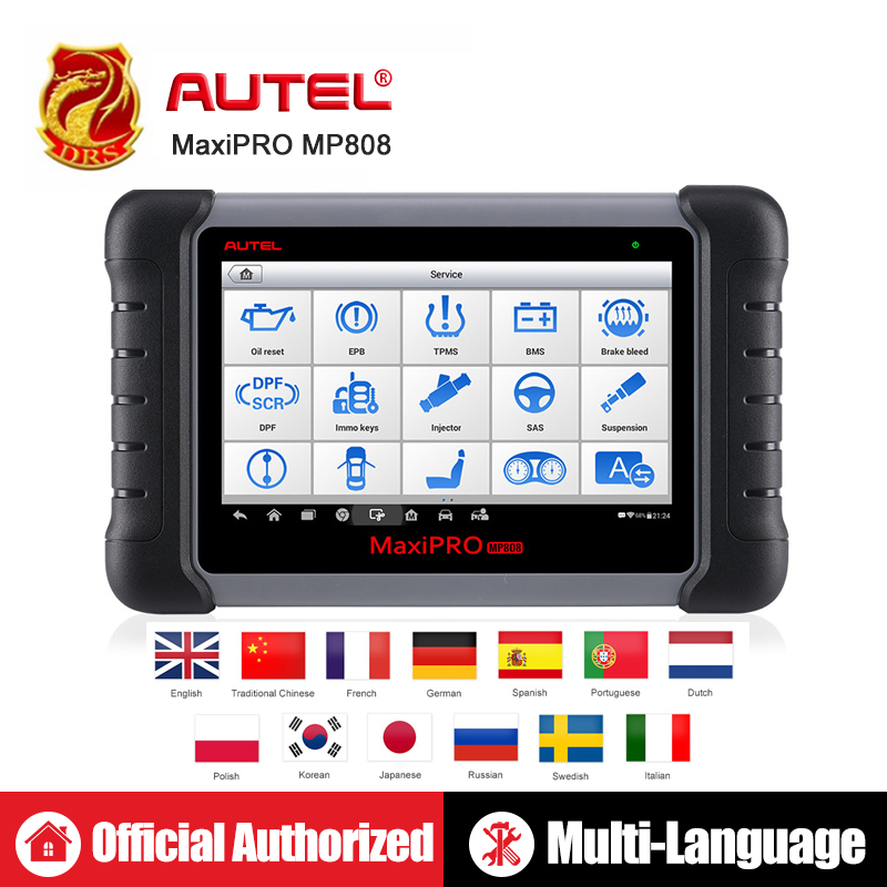 Autel MaxiPRO MP808 DS808 OBD2 Automotive Scanner OBDII Diagnostics Tool Code Reader Scan Tool Key Coding as Autel MaxiSys MS906