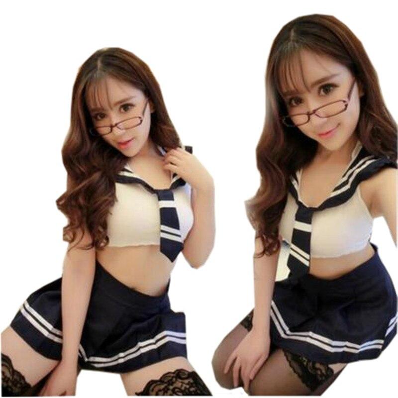 Buy Lenceria Sexy Cosplay Schoolgirl Student Uniforms Erotic Lingerie Sexy Costumes Underwear Sleepwear Women Sex Lady Bodystocking