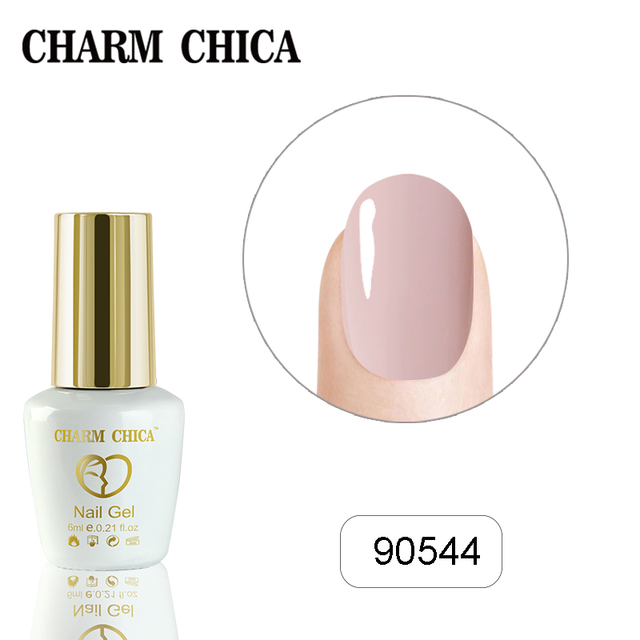 Charm Chica Gel Nail Polish UV 6ml Nude Pink Color Gel Polish Soak Off Gel Varnish Lacquer Nail Art Vernis Semi Permanant UV 02
