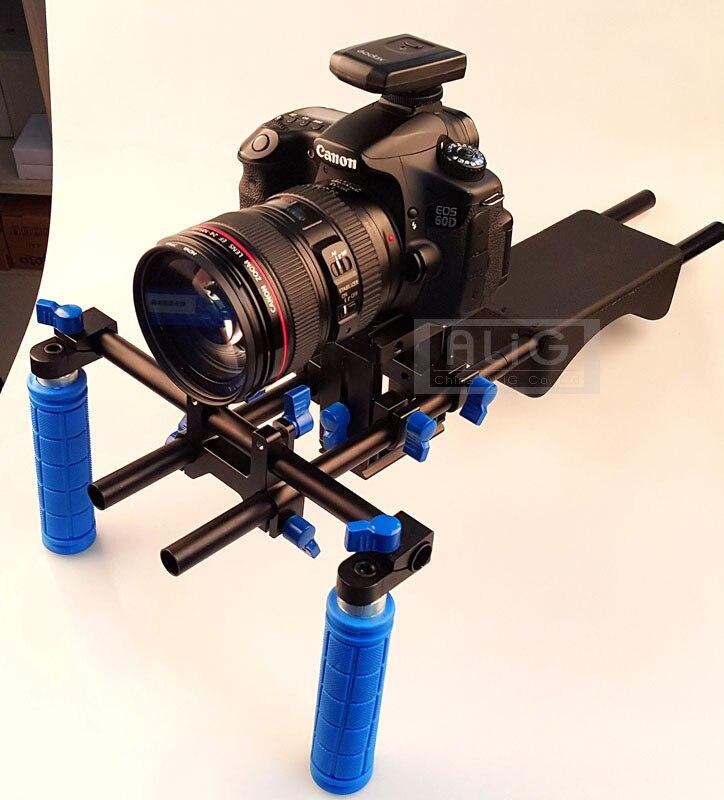 DSLR Rig 5D3 6D D600 Camera Mount Head Handheld Video Shoulder Support System 15mm Rod Clamp Bracket Stand