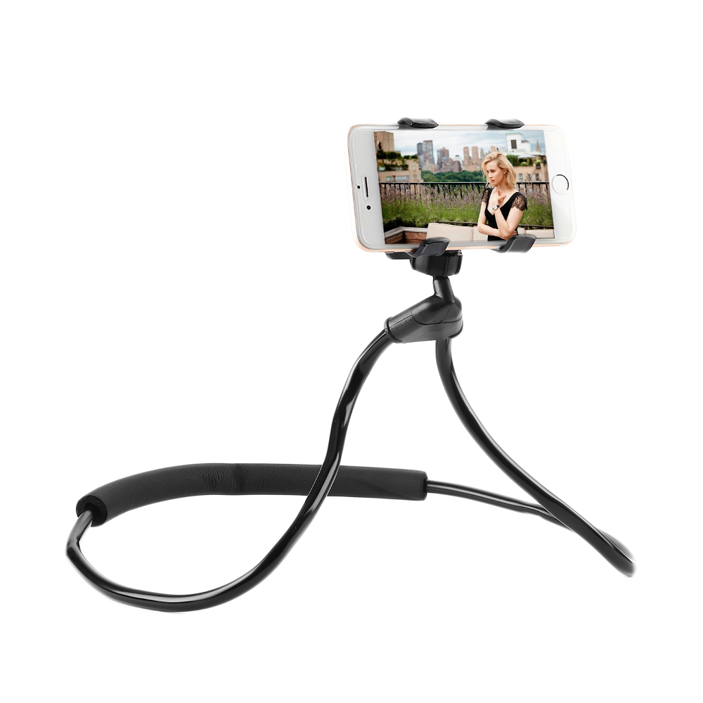 ET Flexible Cell Phone Stand Holder Neck Hanging Lazy Necklace Phone Holders for iPhone Xiaomi Samsung Smartphone Selfie Bracket
