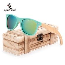 Бобо птица бамбука ноги Для Мужчин Поляризованные деревянный держатель Защита от солнца Очки с розничной Деревянные случай Мода Солнцезащитные очки для Для мужчин и 2017, женская обувь