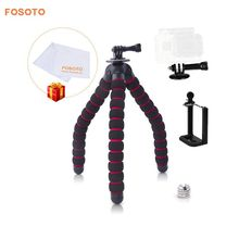 Cheaper fosoto Large Octopus Flexible Gorillapod Mini Tripod Stand 5kg Load-Bearin for Gopro Hero 4/ 3+/ 3 Camera Digital DV Canon Nikon