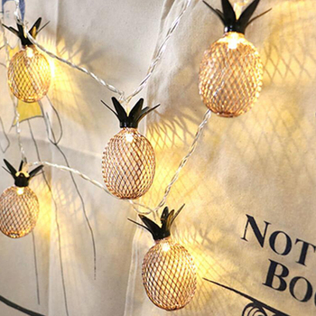 Christmas Lights Outdoor Led Lights/Christmas Decorations for Home String Warm White LED Pineapple