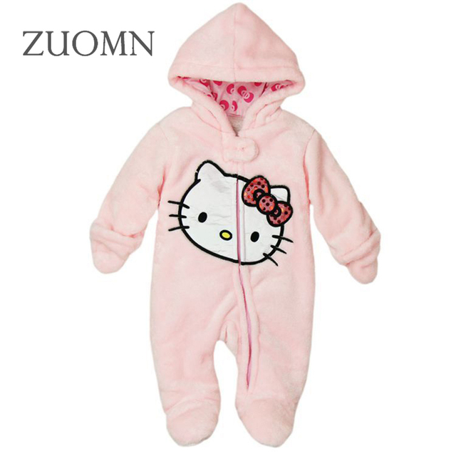 Hello kitty Newborn Baby Rompers Winter Toddler Boys Girls Clothing Toddler Baby Rompers Roupas Infant Jumpsuits Clothes YL270