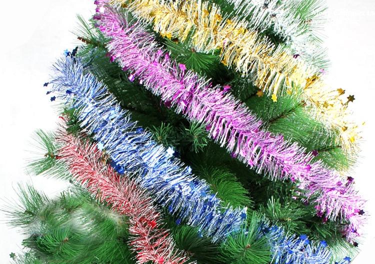 Pcs lot m vintage tinsel garland christmas tree strip home wall
