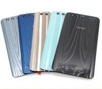 Cas de couverture de batterie pour huawei honor 9 100% d'origine Logement Pièces De Rechange en verre retour Batterie Couverture livraison outils cadeau