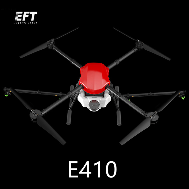 2018 new 10l water tank pesticide liquid tank 10kg anti shock for agricultural uav drone using EFT E410 1300mm Wheelbase waterproof agricultural spraying drone flight platform 10KG 10L Folding UAV Quadcopter