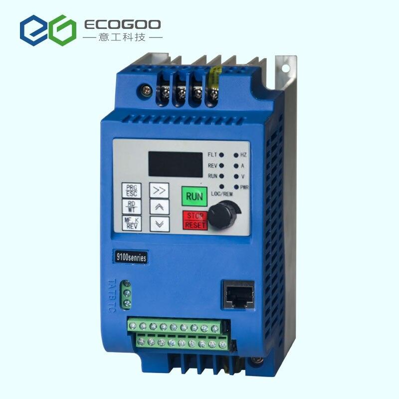 Convertisseur de fréquence de l'inverseur 1.5kw/2.2kw 220v d'axe convertisseur de fréquence de 3 phases pour le contrôleur de vitesse de moteur VFD