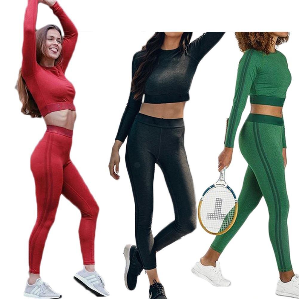 21af07ea17 Women Yoga Set Long Sleeve Sportswear Fitness Workout Leggings Gym Clothes  Sport Suit Female Running Jogging Dance Tracksuit Set