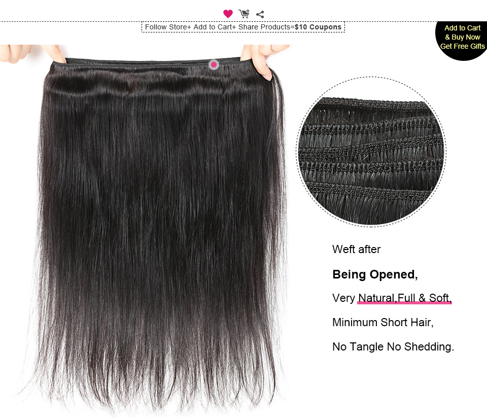 ishow straight remy human hair weave (4)