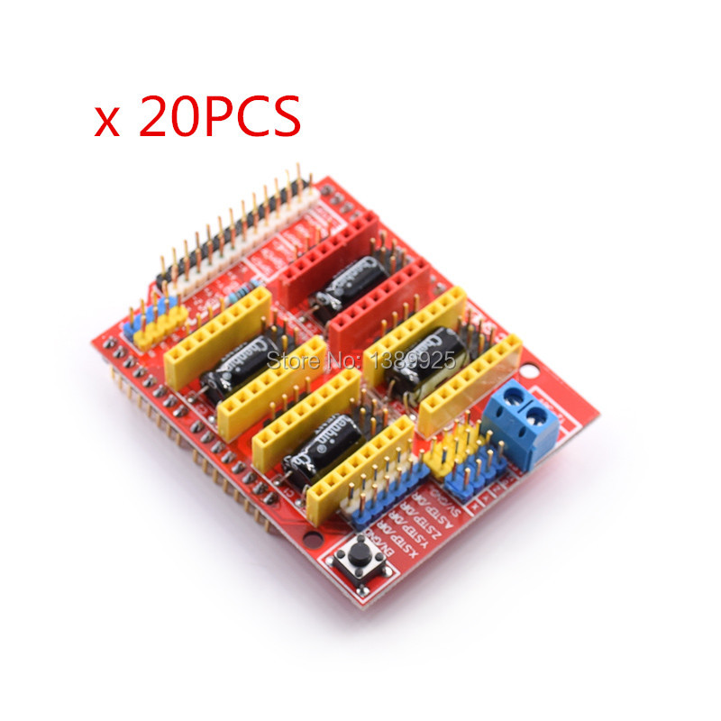 20pcs New cnc shield v3 engraving machine / 3D Printer / A4988 driver expansion board