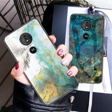 Marble Tempered Glass Case For Moto G6 Play Motorola Plus Cover G5s Funda Carcasa Silicone Bumper