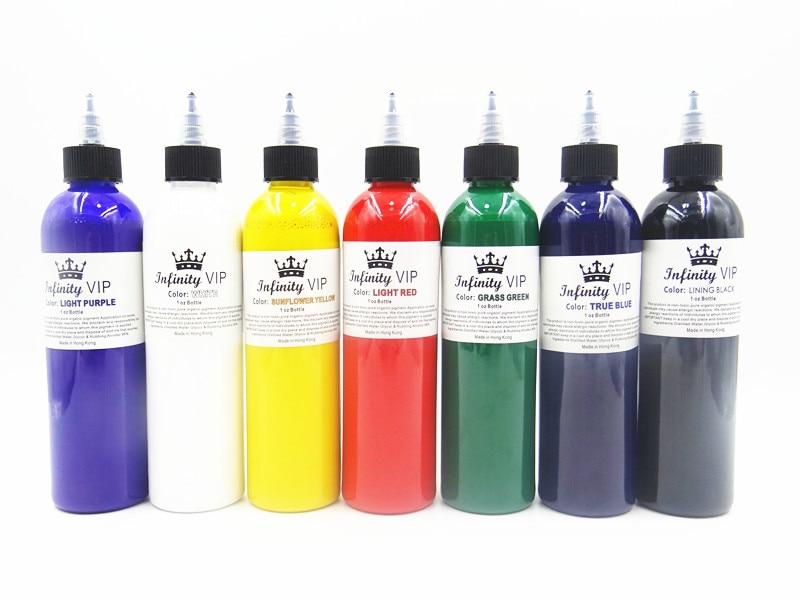 Großhandel tattoo tinte große flasche tattoo farbe professionelle professionelle tattoo schwarz material farbe 249 ml schönheit werkzeuge ausrüsten