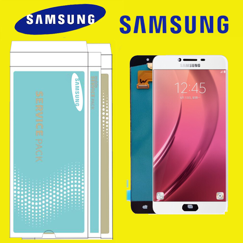 Original 5 7 AMOLED LCD Replacement for SAMSUNG Galaxy C7 LCD Display C7000 Touch Screen Digitizer
