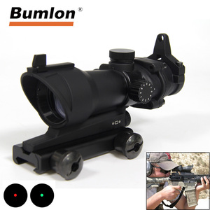 Image 1 - Bumlon ACOG 1X32 Red Dot Sight Optical Rifle Scopes ACOG Red Dot Scope Hunting Scopes  With 20mm Mount for Airsoft Gun