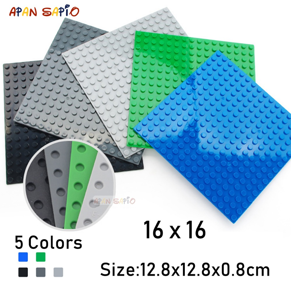 16X16 Dots DIY Building Blocks Baseplates Bricks Educational Assemblage Construction Toys For Children Size Compatible With Lego