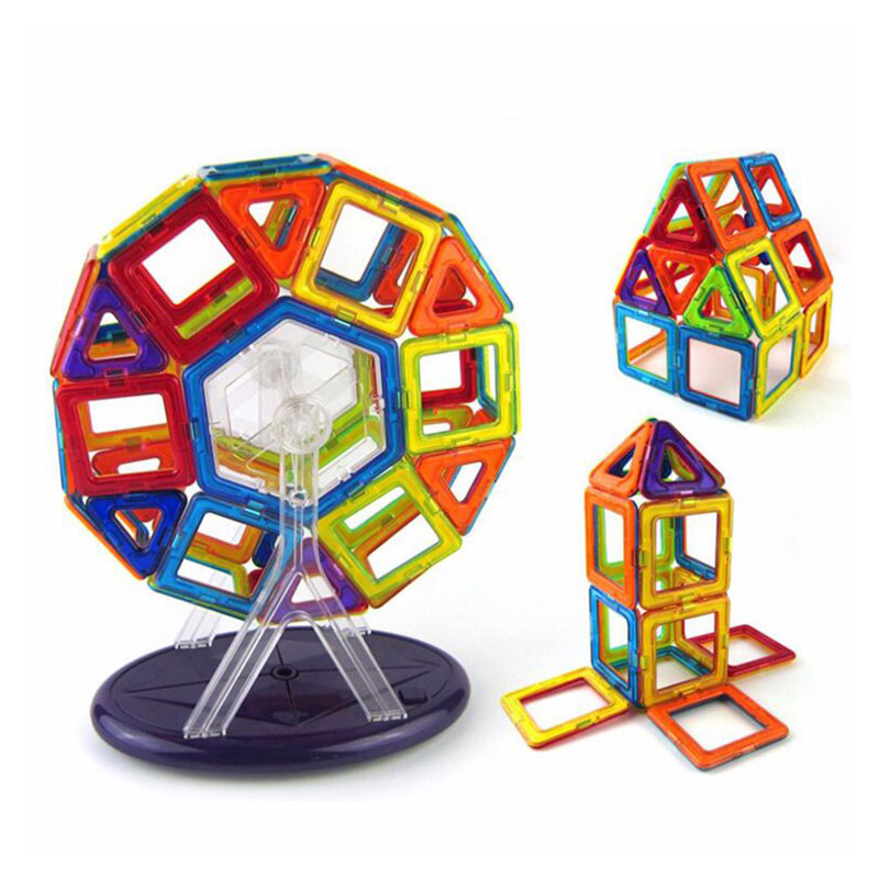 Big Size Magnetic Blocks Building Construction Toys Magnetic Designer for Children Magnet Games Educational toy For Kids Gifts