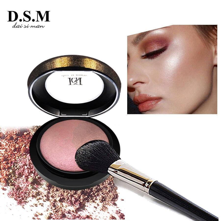 D.S.M Mineralisieren Skinfinish Gedrückt Pulver Erhellen Wasserdicht Gesicht Make-Up Bronzer Highlighter Kosmetik Mineral Kompakte Pulver