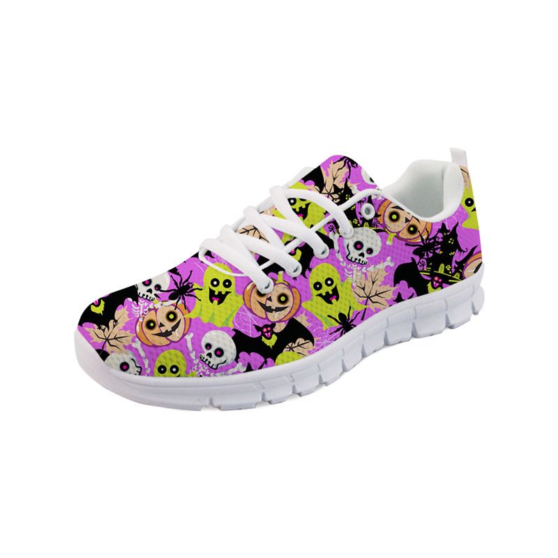 Noisydesigns Fashion Home Shoes for Girls Golf shoes skull Bracelet Zapatos De Mujer Women's Shoes Women Flats Student AQ