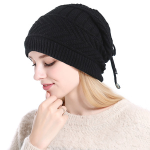 Image 5 - 2019 Ponytail Beanie Winter Skullies Beanies Caps ladies fashion multi function warm hat For Women outdoor Female Knit Hat  Z104