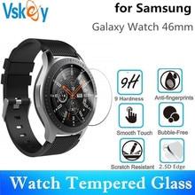 VSKEY 10pcs 강화 유리 삼성 갤럭시 시계 46mm 라운드 SmartWatch 화면 보호기 보호 필름