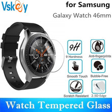 VSKEY 10pcs Tempered Glass for Samsung Galaxy Watch 46mm Round SmartWatch Screen Protector Protective Film