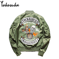 2016 Hot Sale Flight Pilot Jacket Bomber Ma1 Jackets For Men Winter Jackets Nasa Air Force Jackets Embroidery Baseball Coats