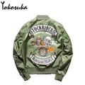 2016 Hot Sale Flight Pilot Jacket Bomber Ma1 Jackets For Men Winter Jackets Nasa Air Force Jackets Embroidery Baseball Coats