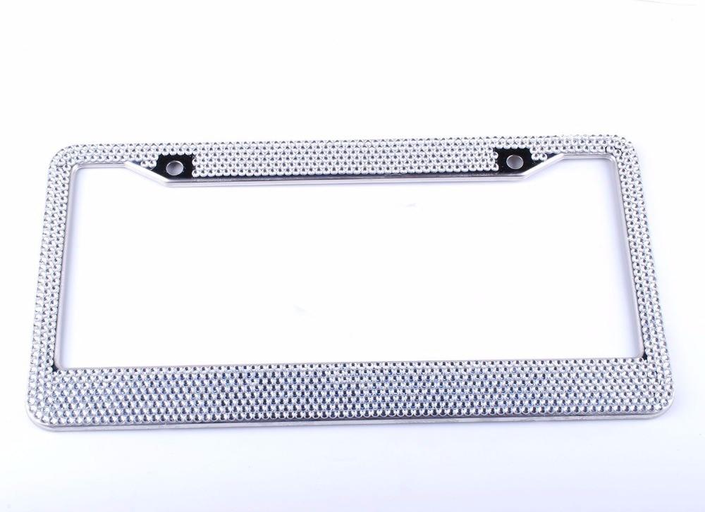 8 Row Bling Nummernschild Rahmen Hohe Qualität Strass Kristalle mit ...