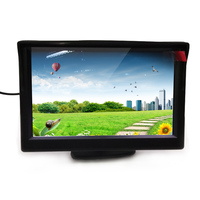 5.0 Inch TFT LCD HD Screen Monitor support Car Rear View Camera Car dashboard Screen rear view screen with camera