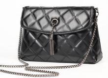 2017 Lady Single shoulder bag European style Tassel concise diamond lattice bag Women casual chains casual messenger bag
