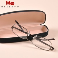 2018 Brand Quality Europe Style Men Women Reading Glasses Stainless Steel Eye Glasses With Case