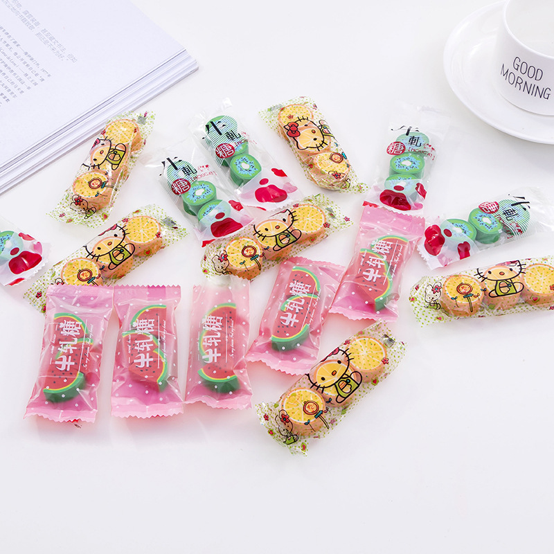 3pcs Creative Fruit Candy Style Rubber Pencil Eraser Student Prize Kawaii Stationery School Supplies Material Escolar Erasers