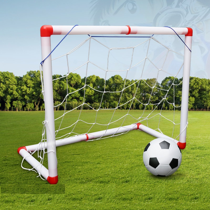 Newest DIY Children Sports Soccer Goals with Soccer Ball and Pump Practice Scrimmage Game Football Gate for Children image