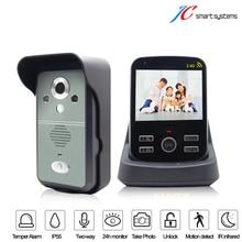 Cámara de la puerta mirilla de vídeo kivos wireless motion detección de puerta de intercomunicación timbre de la cámara con la visión de noche clara