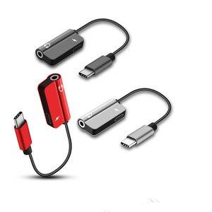 Image 5 - 2 stücke zusammen USB Typ C Audio Kabel Adapter Typ C zu 3,5mm jack Audio Splitter kopfhörer für samsung S9 Huawei Mate20 Xiaomi