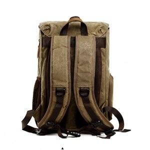 Image 4 - الباتيك قماش حقيبة الكاميرا في الهواء الطلق مقاوم للماء حقيبة متعددة الوظائف حقيبة التصوير لكانون لمعظم حقيبة Slr الرقمية