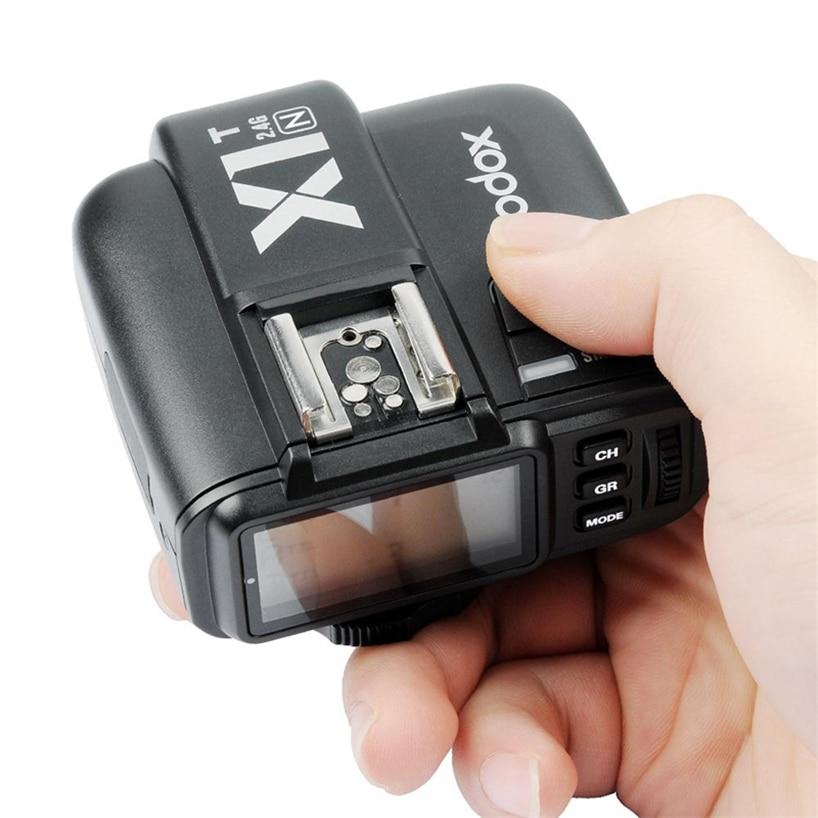 Godox X1T Flash Trigger X1T-N TTL 2.4 G Wireless 1 / 8000s HSS 32 Channels Camera Transmitter for Nikon d3300 d3200 d5100 d7200