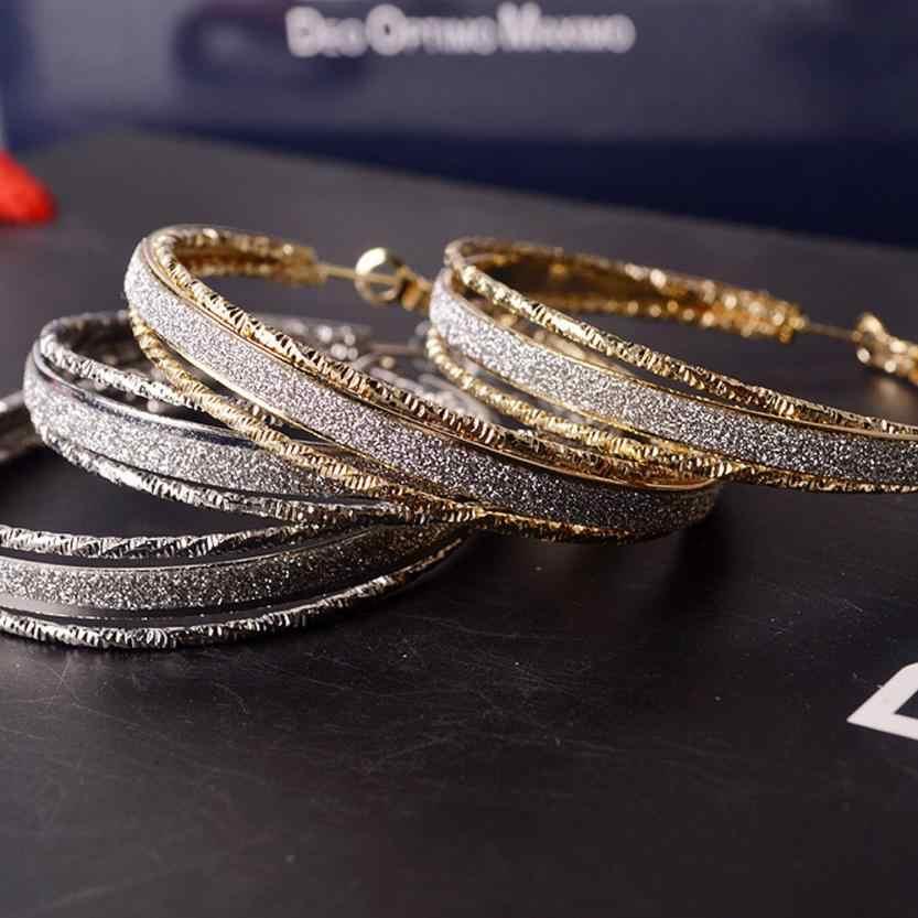 Đầm Nữ Bông Tai Trang Sức Đánh Bóng Mờ Thả Tròn Tòn Ten Thả Đảng Lớn Bông Tai Trang Trí Jewelries D'oreille Mặt Dây Chuyền