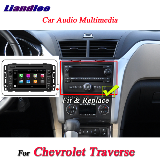 US $456 0 20% OFF|Liandlee For Chevrolet Traverse Stereo Car Radio Video  Camera Wifi Mirror Link DVD Player GPS Map Navi Navigation Android  System-in